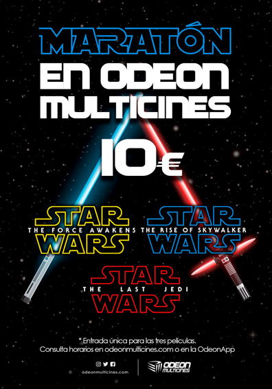 MARATON STAR WARS: EL ASCENSO DE SKYWALKER ODEON